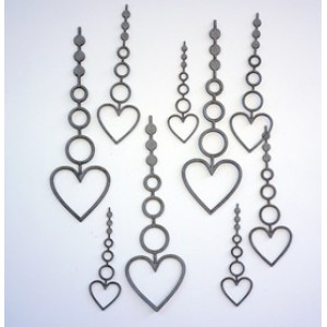 Beaded Hanging Heart Set