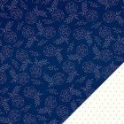 American Crafts - Dear Lizzy - Serendipity - Bright Blueberry double sided paper