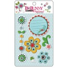 Bo Bunny Press - Petal Pushers Collection - I Candy Chipboard - Layered Stickers
