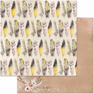 Bo Bunny - Serendipity - Feathers printed paper