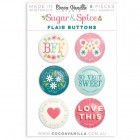 Cocoa Vanilla Studio - Sugar & Spice - Flair Buttons