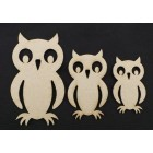 Owls - 3 pack
