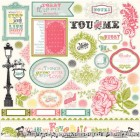 Echo Park - Victoria Gardens - 12x12 Elements cardstock stickers