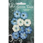 Green Tara -  Cherry Blossoms - Bright Blue