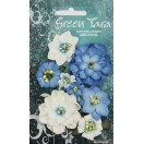 Green Tara -  Fantasy Blooms - Bright Blue