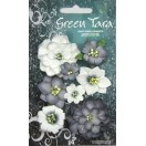 Green Tara -  Fantasy Blooms - BLACK/WHITE