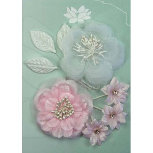 Green Tara - Fabric Flowers Palest Pink pack