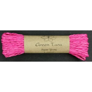 Green Tara - Paper String Hot Pink