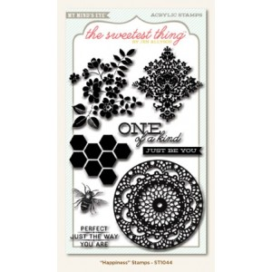 My Mind's Eye - The Sweetest Thing Collection - Honey - Clear Acrylic Stamps - Happiness