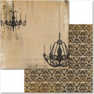 My Minds Eye - Haunted - Large Chandeliers - Flocked Kraft printed paper