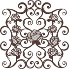 Prima Marketing - Felt Gates - Wrought Iron Flowers