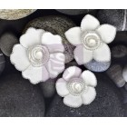 Prima Marketing - Queen Mary - White paper flower with beaded edge