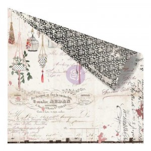 Prima - Rossibelle Collection - 12 x 12 Double Sided Paper - Nostalgia