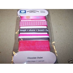 CLOUD 9 ribbon CHOCOLATE CHALET pink brown
