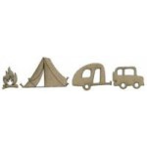Camping Embellishment Pack 4 pieces