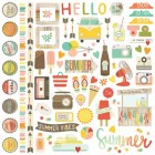 Simple Stories - Summer Vibes - Fundamentals - Cardstock Stickers