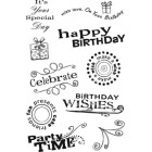 Scrappy Cat - Birthday wishes stamps