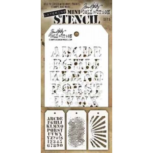 Tim Holtz - Stampers Anomymous - Mini Stencil Set #5