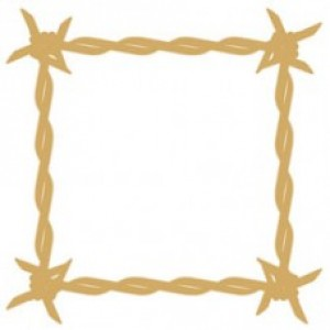 Barbed Wire Frame - mini - wood veneer