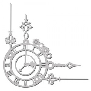 Clock & Gear Corner flourish